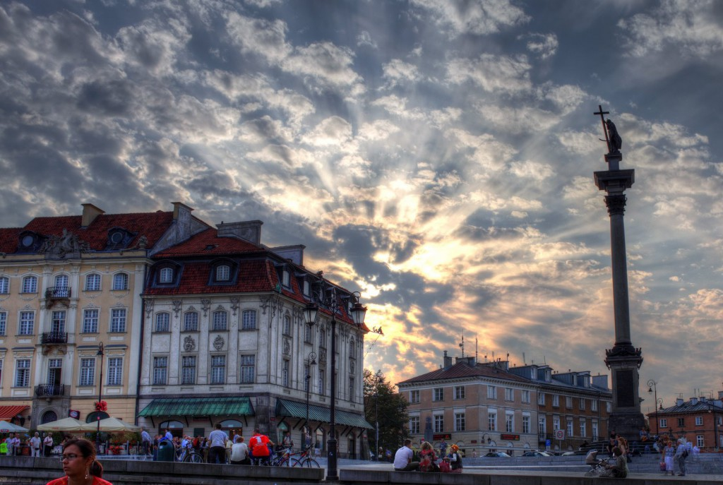Plac Zamkowy in Warsaw. My first attempt at HDR photography.